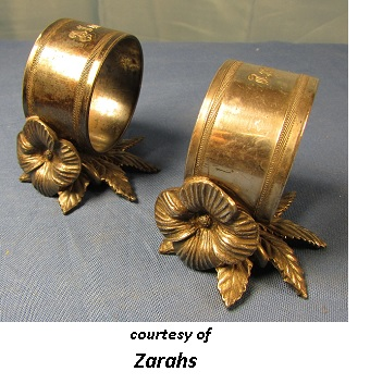 Victorian Romantic Dinner Napkin rings