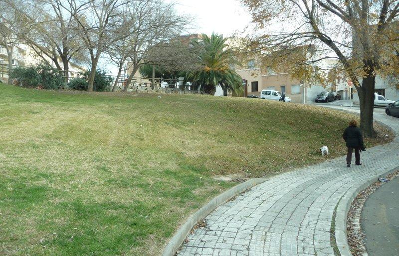 Aquesta és la zona del barri del Poble Nou on hi haurà un espai pels gossos Foto: M.À.L.