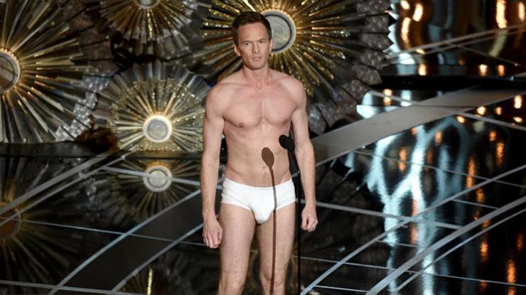 Neil Patrick Harris, en calzoncillos en la gala de los Oscar 2015