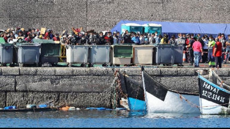 Arrival of migrants to the Canary Islands in the last 24 hours