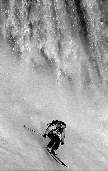 El esquiador Philippe Meier. Por Ivaylo Velev