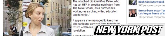 Una profesora es despedida tras admitir que fue prostituta y bailarina de striptease  (Imagen: NEW YORK POST)