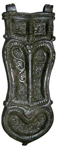 Hallado un broche de cinturón de bronce de la época visigoda en la Vega Baja de Toledo