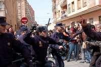 La Policía defiende que su actuación en los desalojos de Cabanyal fue