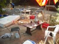 La Policía Local de Sant Antoni desmantela un asentamiento ilegal en Cala Gració y detiene a cuatro personas
