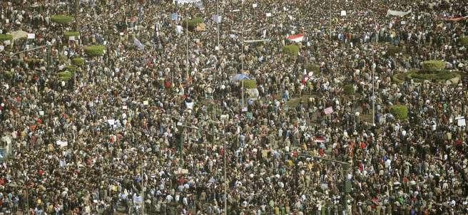 La plaza de la Liberación, en El Cairo, abarrotada