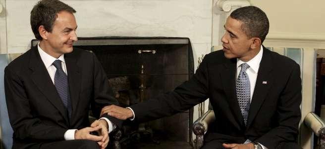 Reunión Zapatero - Obama