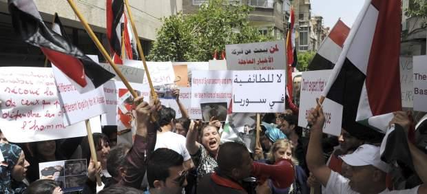 Manifestaciones en Siria