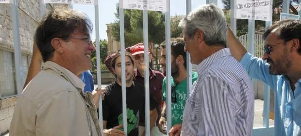 Encierro de profesores en Madrid