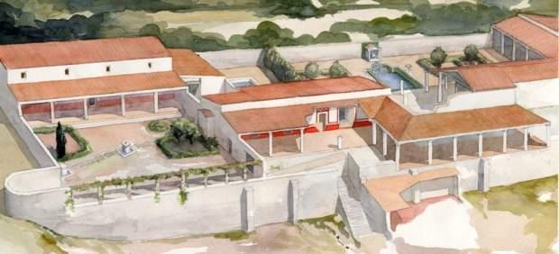 La estructura de la villa de Tossa es parecida a la de la Sagrera.