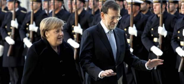 Merkel recibe a Rajoy en Berlín