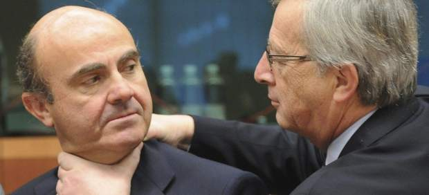 Juncker y De Guindos
