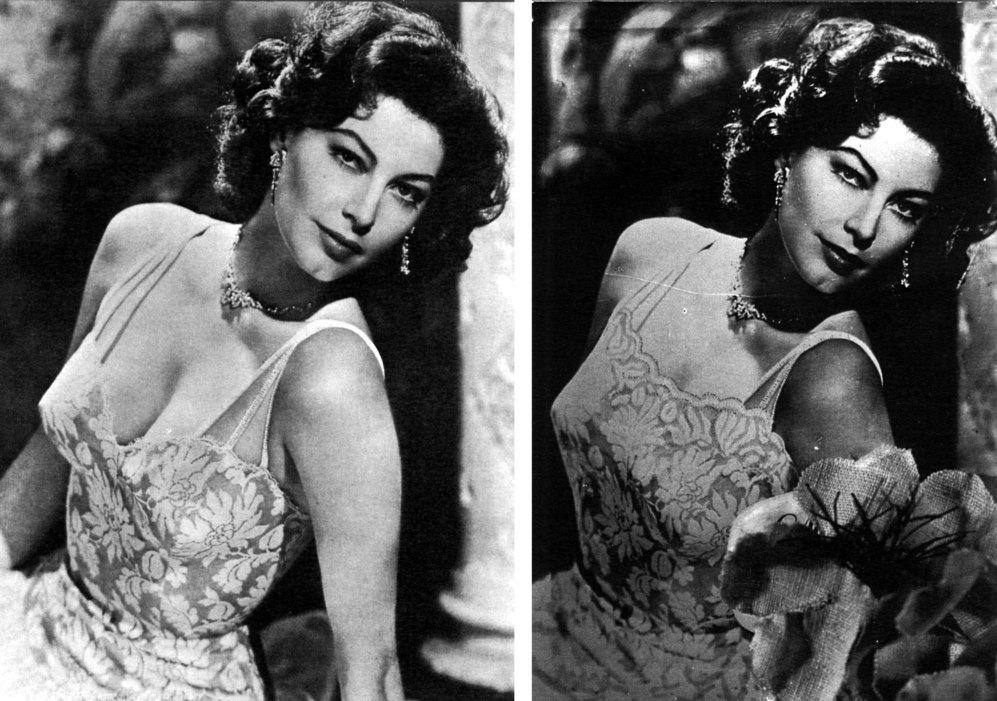 Ava Gardner posa en la década de los 50