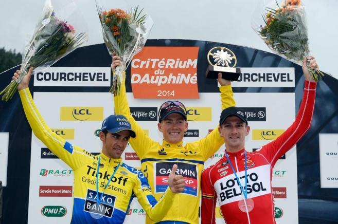 Contador (i) acabó segundo en la Dauphiné por detras del americano...