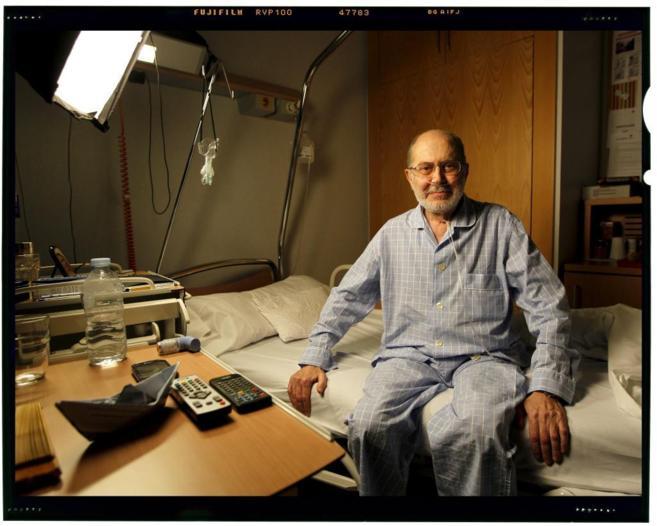 Antonio Segura, el pasado 18 de noviembre, en el hospital.