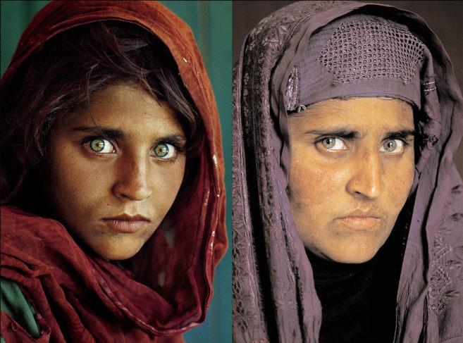 Fotos de la mujer afgana que fue fotografiada por un fotógrafo de...