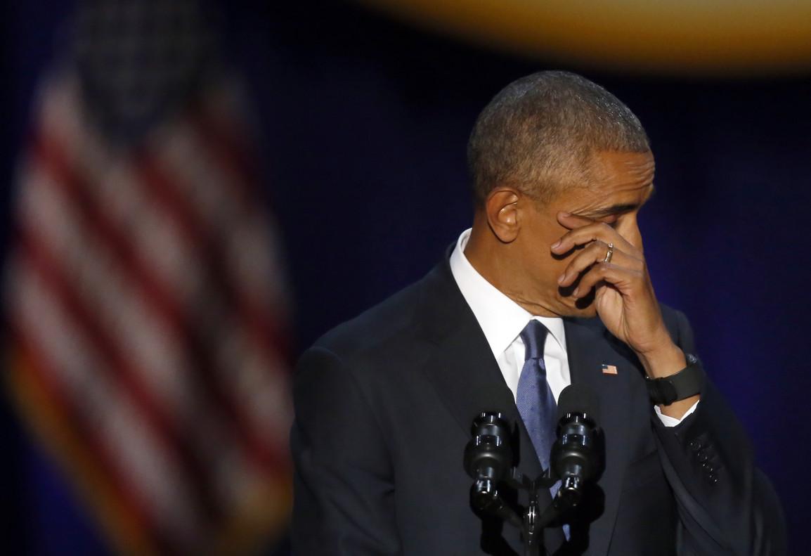 Barack Obama durante discurso de despedida en Chicago