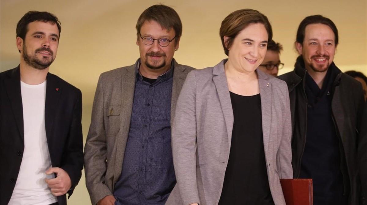 Image result for alberto garzón juntos podemos con trump