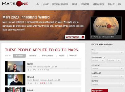Los candidatos pueden mandar sus solicitudes desde la web de 'Mars One'.