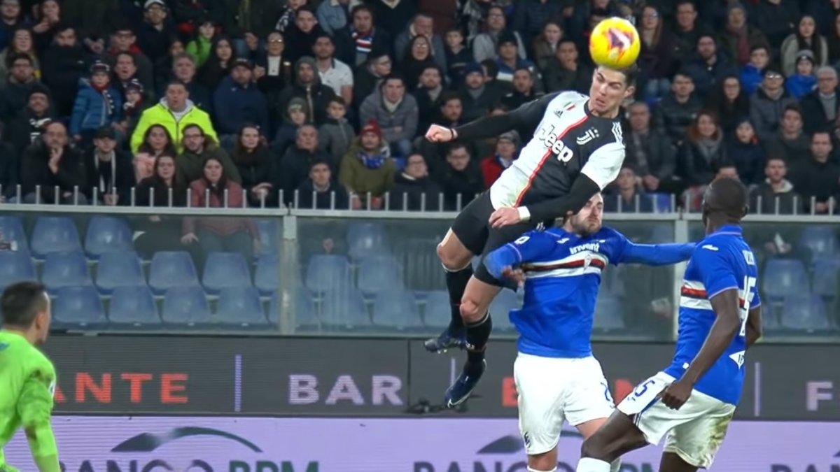Ronaldo surpris par son saut de 2,56 m pour inscrire le but de la victoire contre Sampdoria, réagit!
