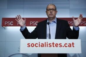 José Zaragoza, durante la rueda de prensa, este miércoles en la sede del PSC.