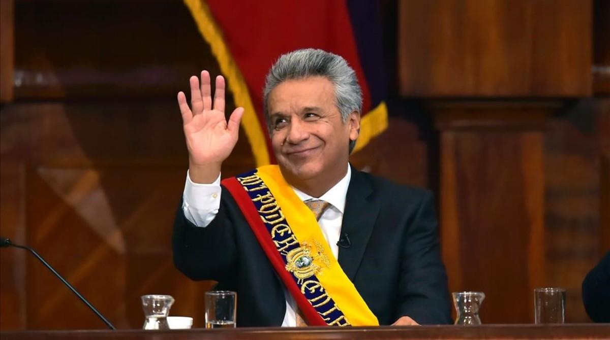 Resultado de imagen para nuevo presidente del ecuador lenin moreno