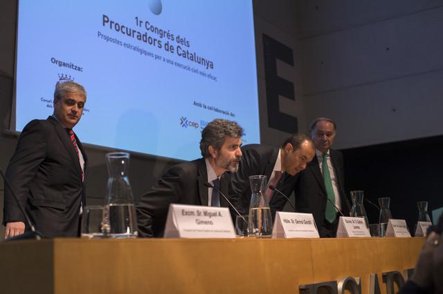 Primer congreso de procuradores de Catalunya, el 28 de febrero pasado.