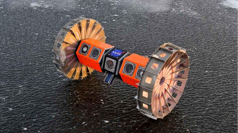 La NASA probará un robot (en la foto) en la Antártida para buscar vida extraterrestre.