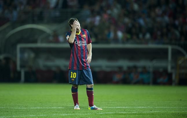 Messi, durante el partido de Liga entre el Granada y el Barça