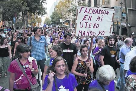 Manifestación por el aborto libre y gratuito en Barcelona, el pasado septiembre.