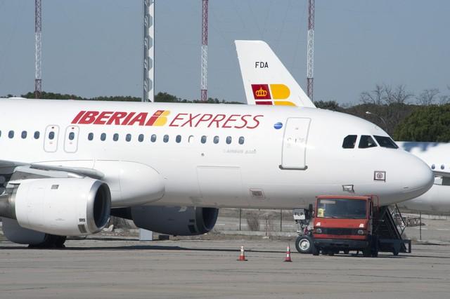 Avión de Iberia Express, en Barajas.