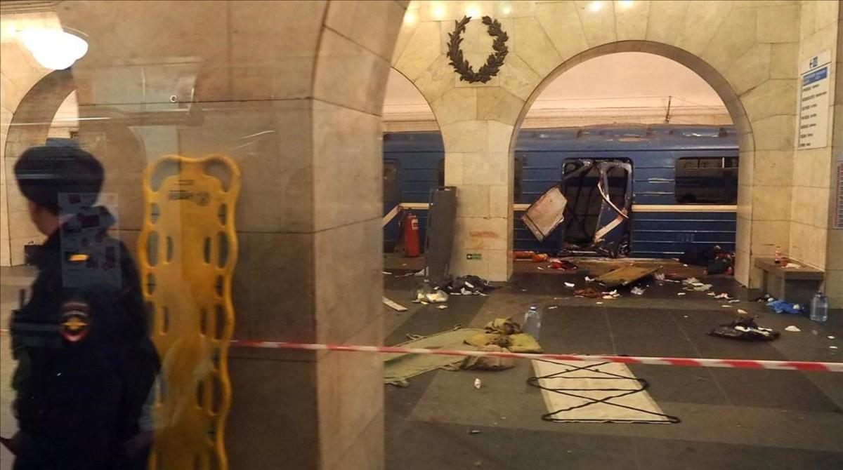 Resultado de imagen de atentado metro san petersburgo