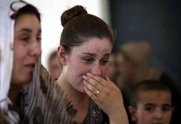 Una joven yazidí, comunidad considerada hereje por el Estado Islámico.