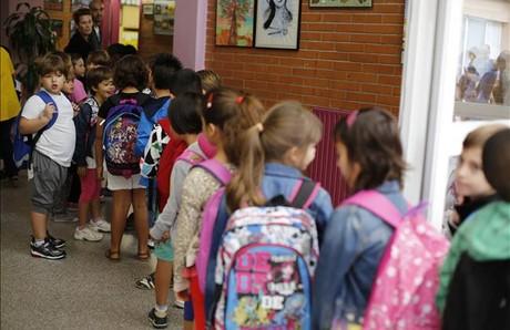 Inici del curs escolar a l'escola Reixach, a Montcada i Reixach.