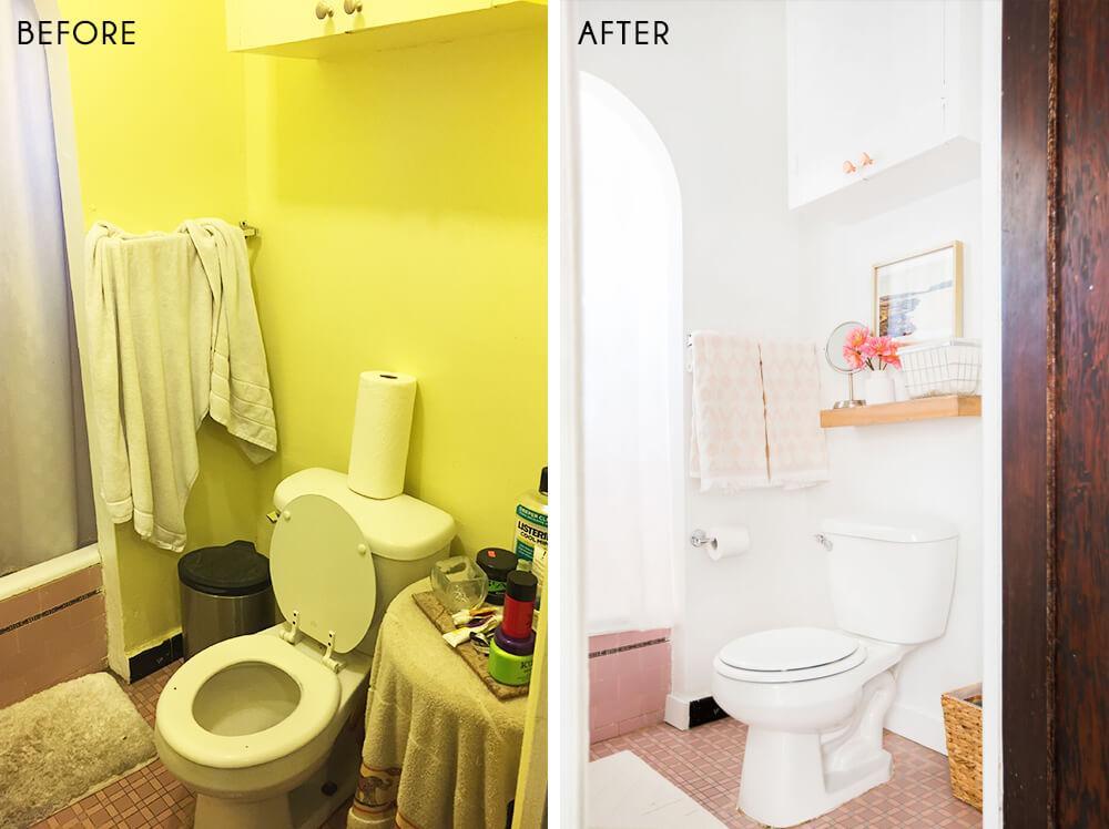antes y después de un baño