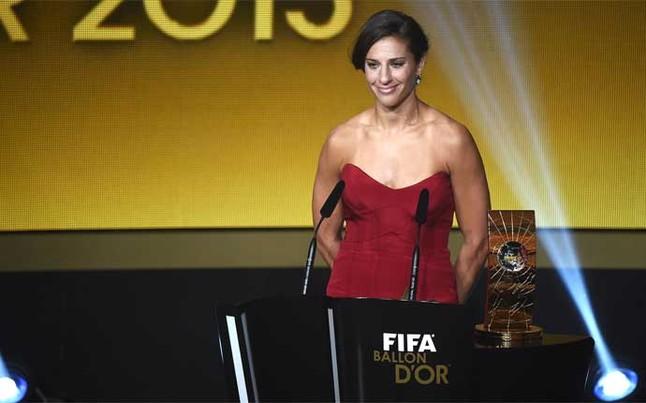 Carli Lloyd, mejor Jugadora del Año de la FIFA 2015