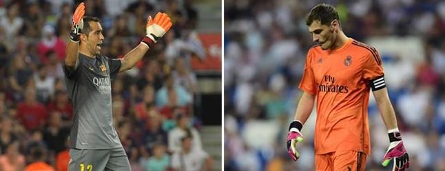 Bravo le está ganando claramente la partida a Casillas