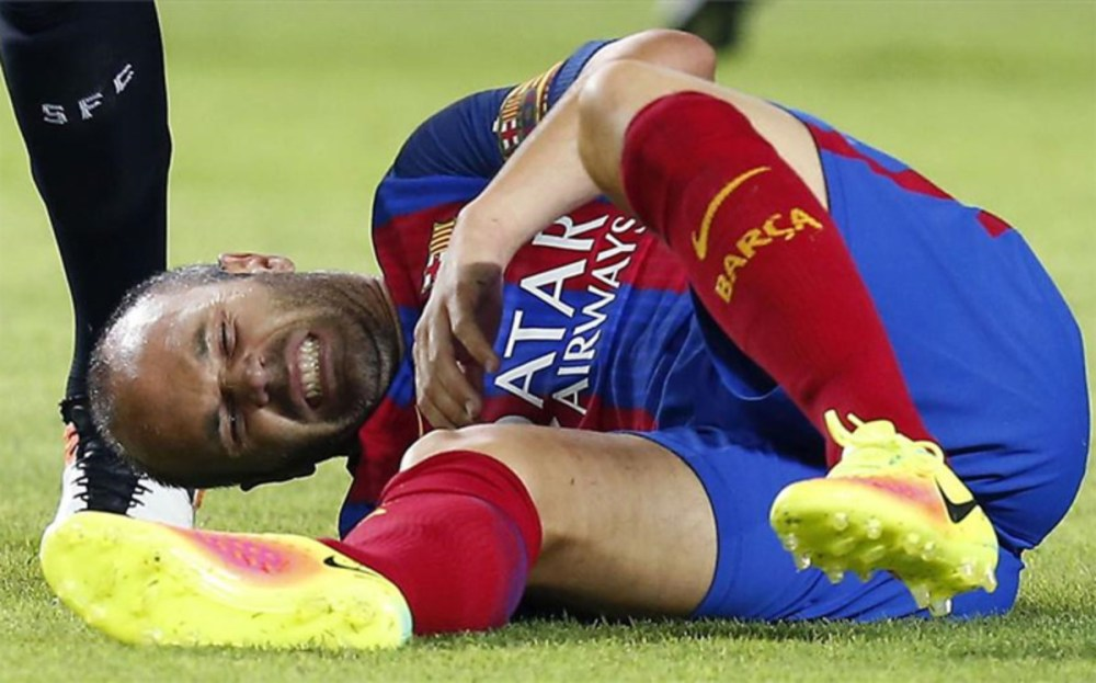 Image result for Andres iniesta injured images