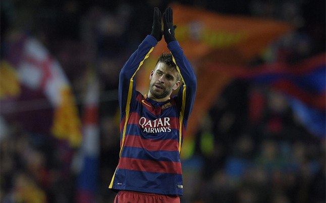 Pique will play against Real Sociedad the league match 200 with FC Barcelona