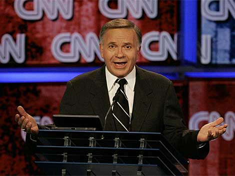 El republicano Tom Tancredo durante un debate en la CNN.