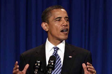 Barack Obama durante una conferencia en Ohio.   Ap
