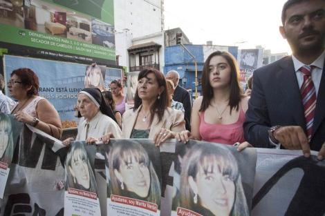 La madre de Marita Verón, Susana Trimarco, en una manifestación contra la trata de blancas.| Efe