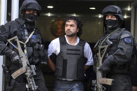 El colombiano Henry de Jesús López Londoño, alias 'Mi Sangre', tras ser detenido. | Efe
