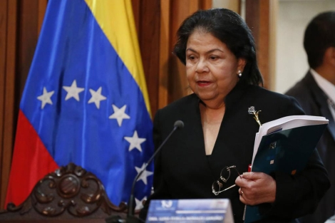 Luisa Estella Morales, presidenta del Tribunal Supremo de Justicia de Venezuela.   Reuters