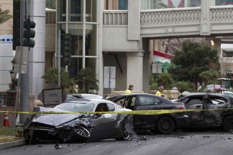 Imagen de los coches involucrados en el accidente en Las Vegas. | Reuters