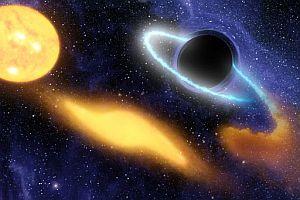 Reproducción art�sticva de un agujero negro engullendo una estrella. (Foto: AP)