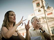 Actuación de la intérprete de signos.| Efe