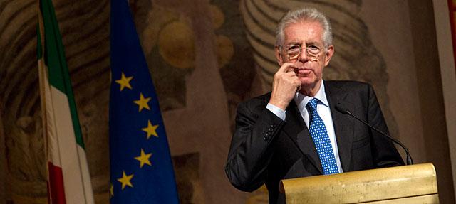 Mario Monti, este lunes en el Senado. | AP