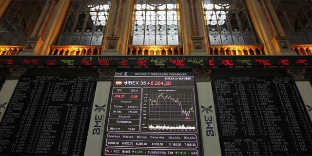 Panel de cotización en la Bolsa de Madrid en jornadas anteriores. | Efe