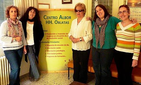 Algunas trabajadoras y voluntarias del centro Albor. | L. Leonardo